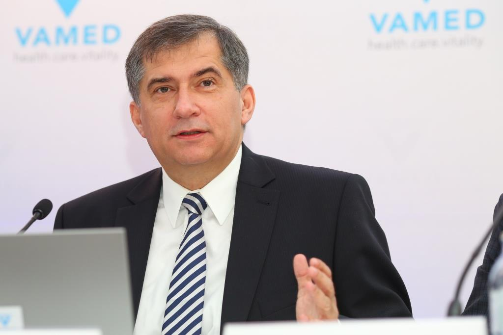 Im Bild: Dr. Ernst Wastler (Vorstandsvorsitzender der VAMED AG)